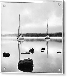 Boats On Ullswater In The Lake District Acrylic Print