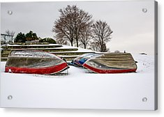 Boats Waiting On Spring Acrylic Print