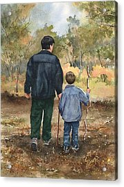 Bob And Alex Acrylic Print by Sam Sidders
