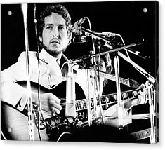 Acrylic Print featuring the photograph Bob Dylan 1969 Isle Of Wight by Chris Walter