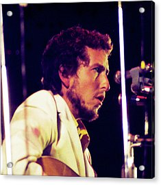 Acrylic Print featuring the photograph Bob Dylan 1969 Isle Of Wight No3 -square Variation by Chris Walter