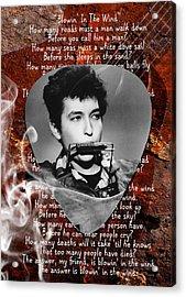Bob Dylan Art Acrylic Print