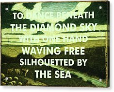 Bob Dylan Lyrics Art Print Acrylic Print