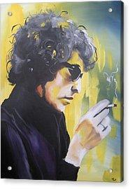 Bob Dylan Acrylic Print by Matt Burke