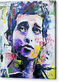 Acrylic Print featuring the painting Bob Dylan Portrait by Richard Day