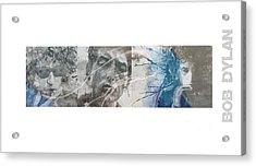 Bob Dylan Triptych Acrylic Print
