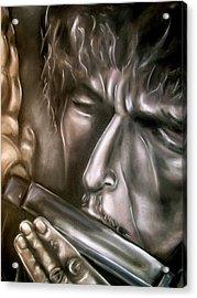 Bob Dylan Acrylic Print by Zach Zwagil