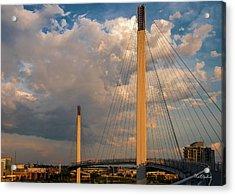 Bob Kerry Bridge At Sunrise-3 Acrylic Print