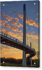 Bob Kerry Bridge At Sunrise Acrylic Print