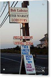 Bob Lobster Fish Market Acrylic Print