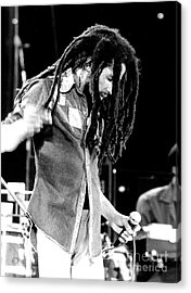 Bob Marley 1979 Dreads Acrylic Print by Chris Walter