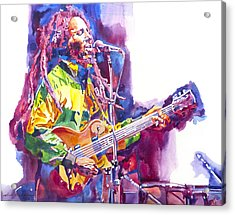 Bob Marley And Les Paul Gibson Acrylic Print by David Lloyd Glover