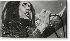 Bob Marley Acrylic Print by Don Medina