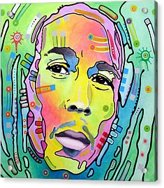 Acrylic Print featuring the painting Bob Marley I by Dean Russo