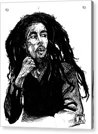 Bob Marley Acrylic Print by Keith  Thurman