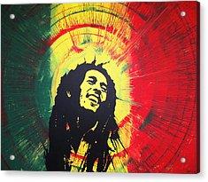 Bob Marley Acrylic Print by Lance Bifoss