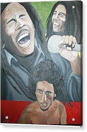 Bob Marley Montage Acrylic Print by Angelo Thomas