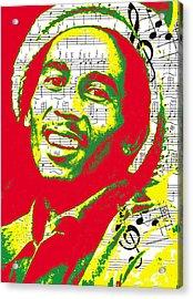 Bob Marley Musical Legend Acrylic Print by Brad Scott
