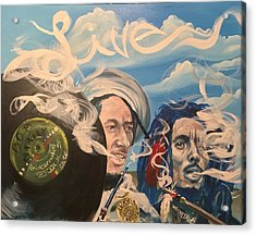 Bob Marley - Perpetual High Acrylic Print by Sean Ivy aka Afro Art Ivy