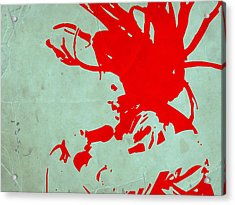 Bob Marley Red Acrylic Print by Naxart Studio