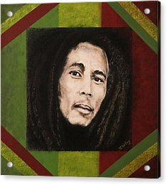 Acrylic Print featuring the painting Bob Marley by Teresa Wing