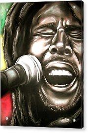 Bob Marley Acrylic Print by Zach Zwagil