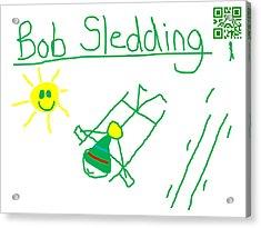 Bob Sledding Acrylic Print by Jeffrey Church
