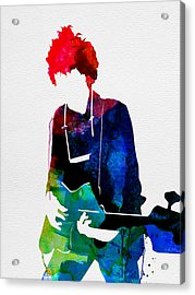 Bob Watercolor Acrylic Print by Naxart Studio