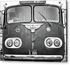 Bob Wills Tour Bus Bw Acrylic Print