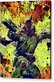 Acrylic Print featuring the mixed media Boba Fett by Al Matra