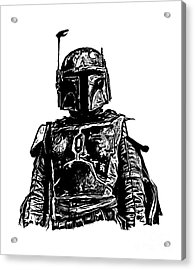 Boba Fett From The Star Wars Universe Acrylic Print by Edward Fielding