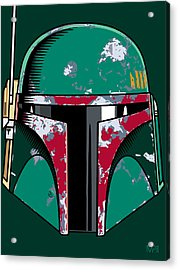 Boba Fett Acrylic Print by IKONOGRAPHI Art and Design
