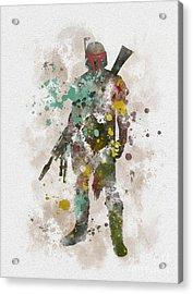 Boba Fett Acrylic Print by Rebecca Jenkins