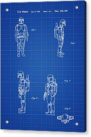Boba Fett Toy Patent 1982 In Blue Print Acrylic Print