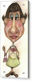 Bobblehead No 33 Acrylic Print by Edward Ruth
