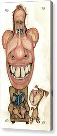 Bobblehead No 42 Acrylic Print by Edward Ruth
