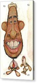 Bobblehead No 47 Acrylic Print by Edward Ruth