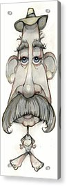 Bobblehead No 65 Acrylic Print by Edward Ruth