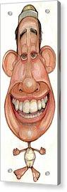Bobblehead No 67 Acrylic Print by Edward Ruth