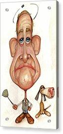 Bobblehead No 69 Acrylic Print by Edward Ruth