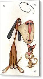 Bobblehead No 70 Acrylic Print by Edward Ruth