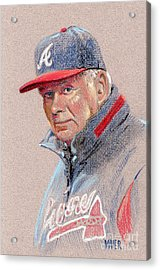 Bobby Cox Acrylic Print by Donald Maier