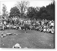 Bobby Jones Golf Demonstration Acrylic Print