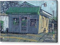 Bob's Barber Shop Acrylic Print by Donald Maier