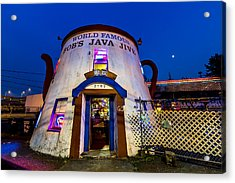 Bob's Java Jive - Historic Landmark During Blue Hour Acrylic Print