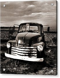 Bob's Truck In B/w Acrylic Print