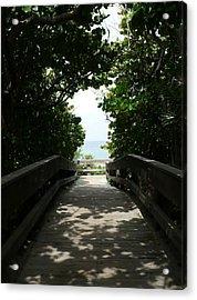 Boca Beach Boardwalk Acrylic Print