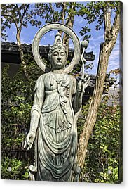 Boddhisattva Buddhist Deity - Kyoto Japan Acrylic Print by Daniel Hagerman