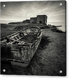 Boddin Point Wreck Acrylic Print by Dave Bowman