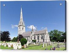 Bodelwyddan Church Acrylic Print by Steev Stamford